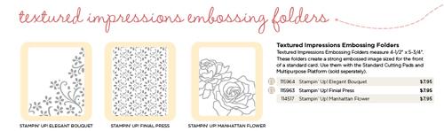 Textured Impression folders