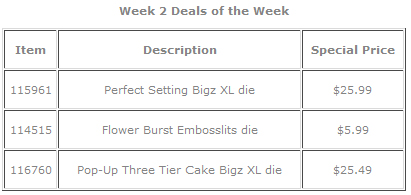 Deals of the week oct 13 09