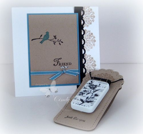 Necklace and note card