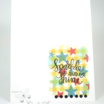 Celebrate with Sparkle! Layered Stamping